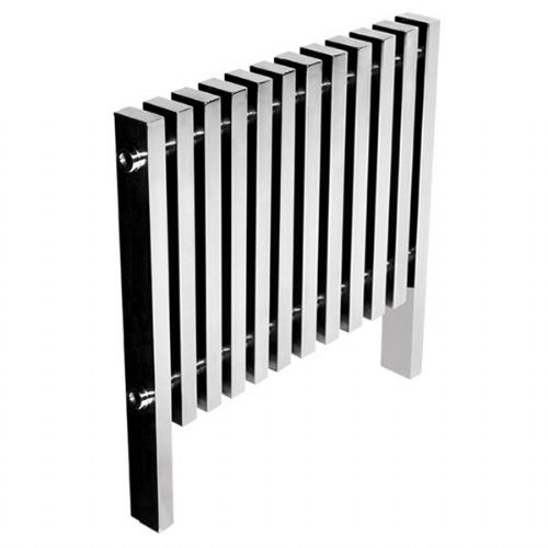 Abacus Kolonna Square Designer Radiator - 800mm x 780mm - Polished Stainless Steel